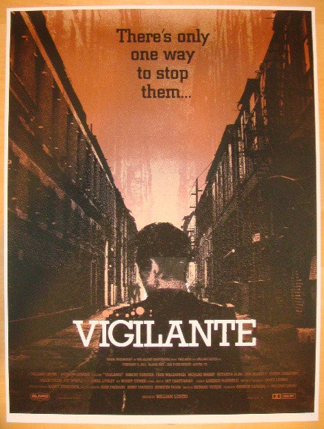 "2011 ""Vigilante"" - Silkscreen Movie Poster by Alan Hynes"