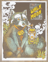 2015 Walk The Moon - Minneapolis Silkscreen Concert Poster by Erica Williams