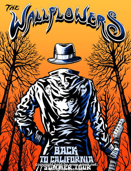 2004 Wallflowers - Back to California Summer Tour Poster by Emek