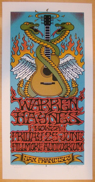 2004 Warren Haynes SF Silkscreen Concert Poster by Gary Houston