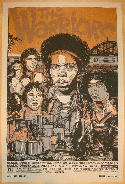 "2009 ""The Warriors"" II - Silkscreen Movie Poster by Tyler Stout"