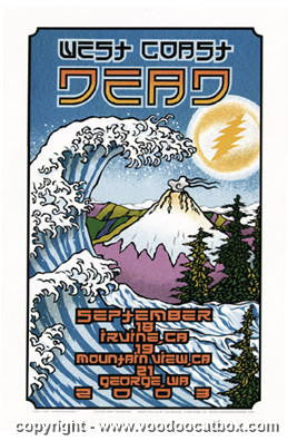 2003 The Dead - West Coast Tour Poster by Gary Houston