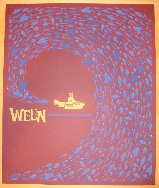 2008 Ween - Tulsa Red Variant Concert Poster by Todd Slater