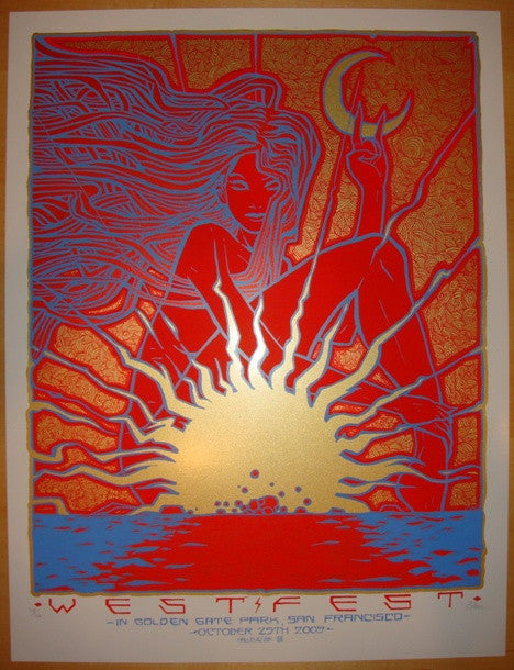 2009 West Fest - Silkscreen Concert Poster by Malleus