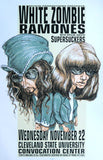 1995 White Zombie & Ramones (95-33) Concert Poster by Hess