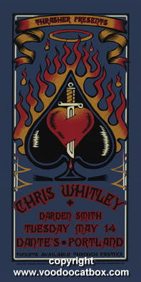 2001 Chris Whitley Silkscreen Concert Poster by Gary Houston