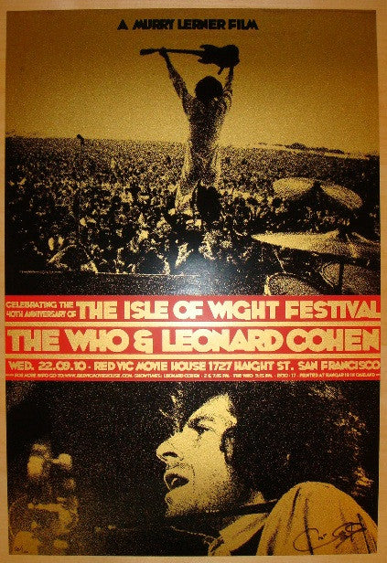 "2010 ""The Isle of Wight Festival"" - Movie Poster by Ron Donovan"
