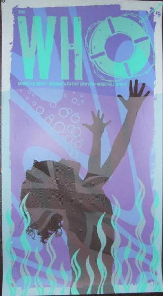 2007 The Who - Atlantic City Silkscreen Concert Poster by Todd Slater