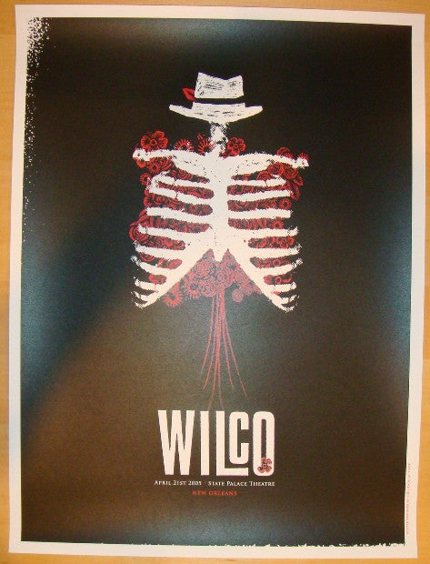 2005 Wilco - New Orleans Concert Poster by Heads of State