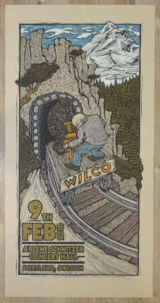 2010 Wilco - Portland Silkscreen Concert Poster by Gary Houston