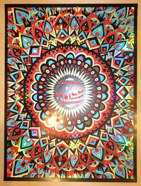 2015 Wilco - Red Rocks Silkscreen Concert Poster by Nate Duval