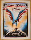 2013 Willie Nelson - Cary Silkscreen Concert Poster by Zeb Love