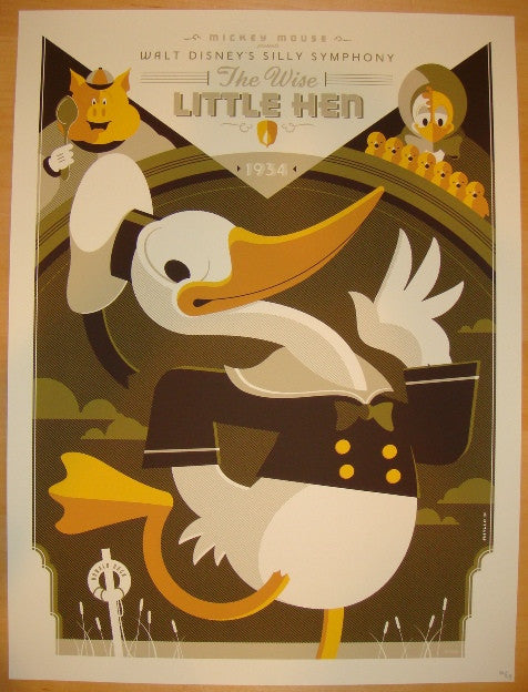 "2011 ""The Wise Little Hen"" - Variant Movie Poster by Tom Whalen"