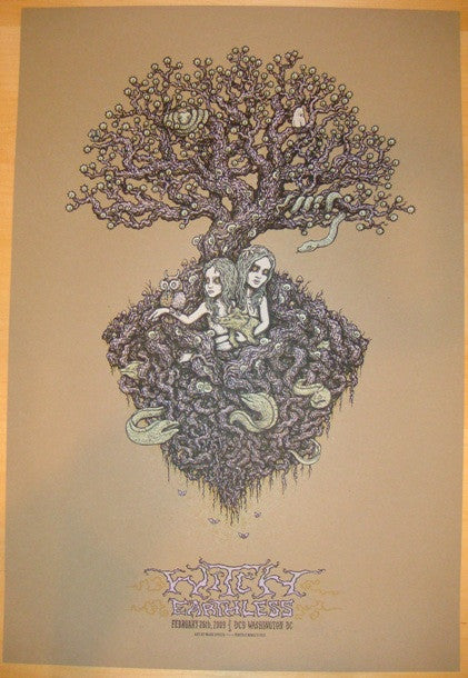 2009 Witch - DC Silkscreen Concert Poster by Marq Spusta