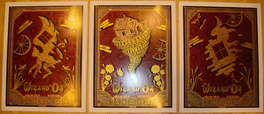 "2012 ""Wizard of Oz"" - Red Movie Poster Set by David O'Daniel"