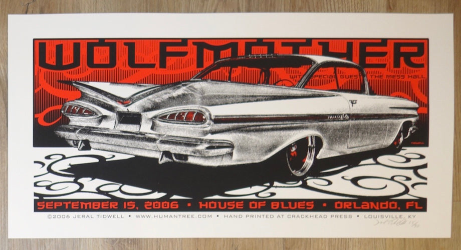 2006 Wolfmother - Orlando Silkscreen Concert Poster by Jeral Tidwell