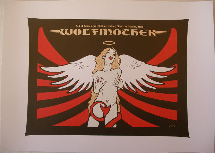 2006 Wolfmother - Silkscreen Concert Poster by Malleus
