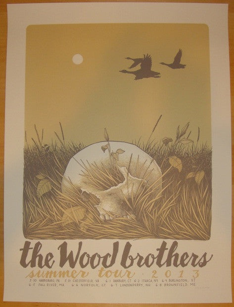 2013 The Wood Brothers - Summer Tour Poster by Justin Santora