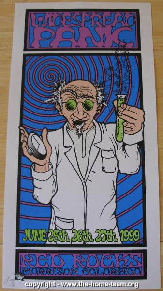 1999 Widespread Panic - Red Rocks Concert Poster - JT Lucchesi