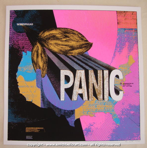 2008 Widespread Panic - DC Silkscreen Concert Poster by Smith