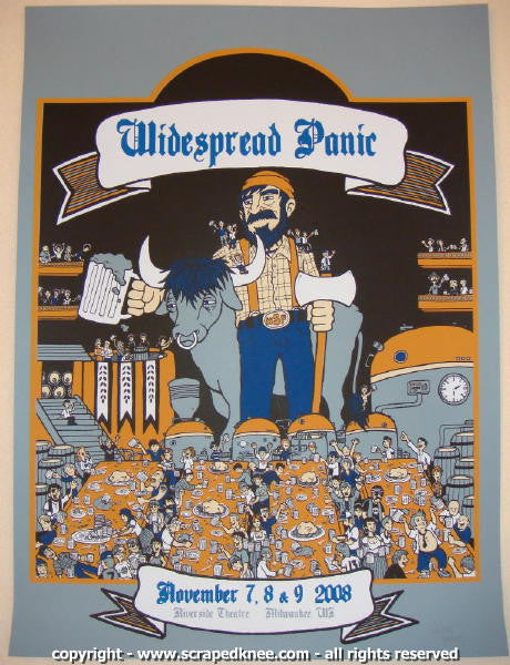 2008 Widespread Panic - Milwaukee Concert Poster by Matt Leunig