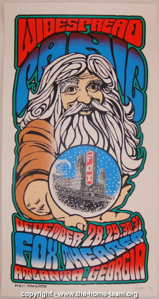 1998 Widespread Panic - Atlanta NYE Concert Poster - JT Lucchesi