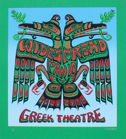 2002 Widespread Panic Emerald Green Variant Poster by Emek