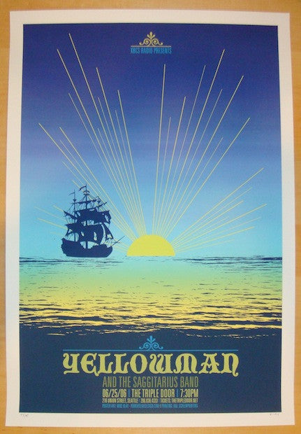 2006 Yellowman - Seattle Silkscreen Concert Poster by Mike Klay