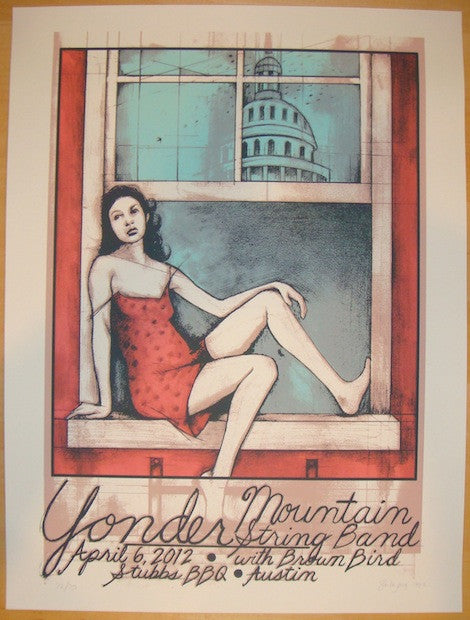 2012 Yonder Mountain String Band - Austin Poster by Bookout