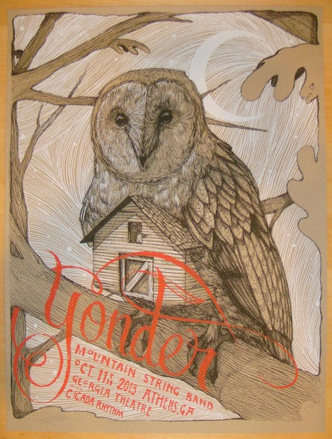2013 Yonder Mountain String Band - Athens Poster by Zach Landrum