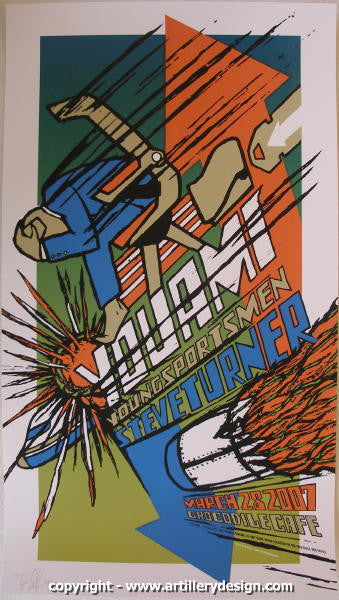 2007 You Am I - Silkscreen Concert Poster by Brad Klausen
