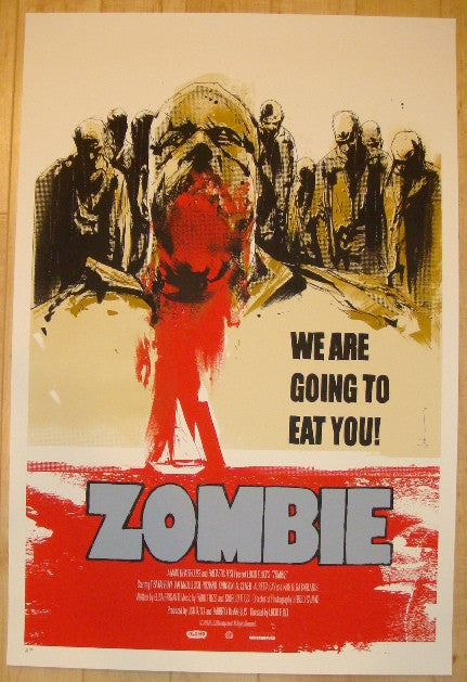 "2011 ""Zombie"" - Silkscreen Movie Poster by Jock"