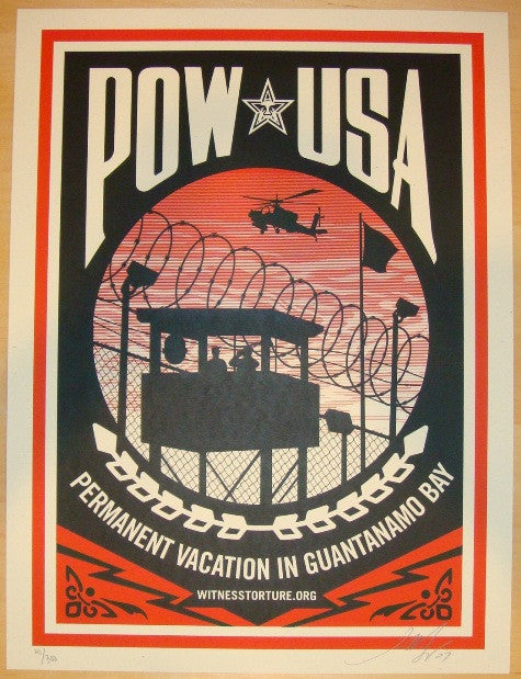 2007 POW USA - Silkscreen Art Print by Shepard Fairey