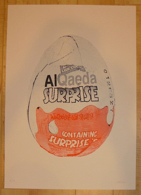 2013 Al Qaeda Surprise - Silkscreen Art Print by Imbue