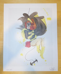 2012 Batgirl Pinup - Giclee Art Print by Lora Zombie