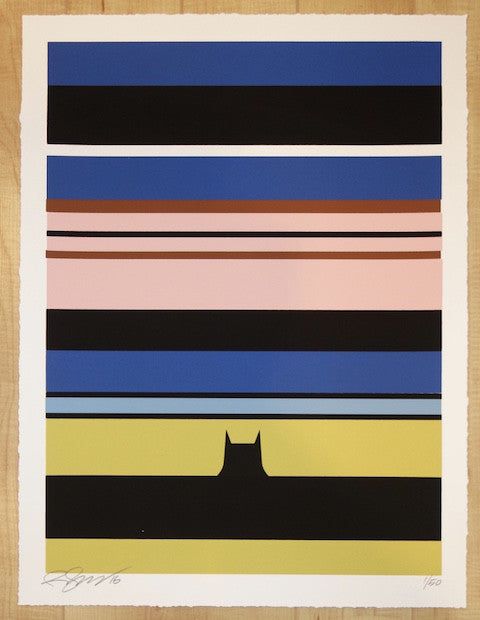2016 Batman - Silkscreen Art Print by Rene Gagnon