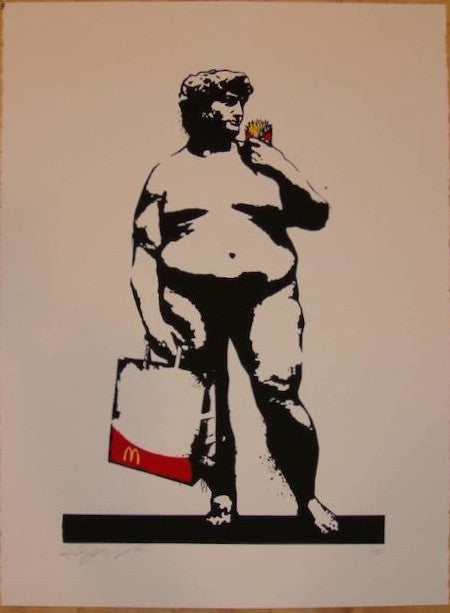 2010 Big Dave - Silkscreen Art Print by Rene Gagnon