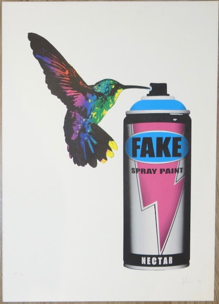 2009 CanBird - Silkscreen Art Print by Fake