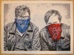 2012 The Black Keys - LA Silkscreen Art Print by Mr. Brainwash