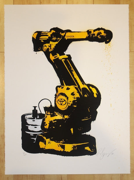 2010 Break Time - Silkscreen Art Print by Rene Gagnon