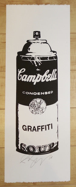 2010 Graffiti Soup - Black Silkscreen Art Print by Rene Gagnon
