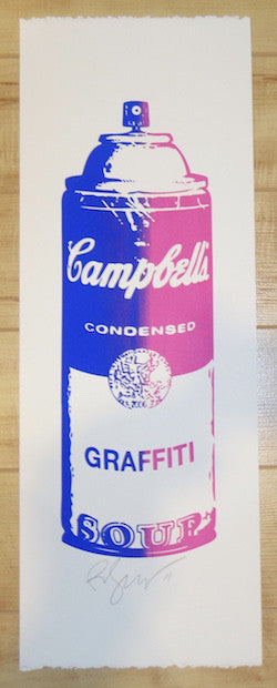 2011 Graffiti Soup - Blue/Pink Silkscreen Art Print by Rene Gagnon