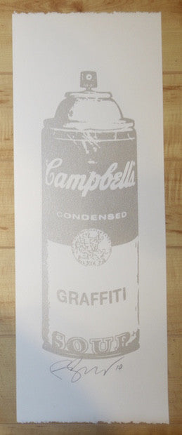 2010 Graffiti Soup - Silver Silkscreen Art Print by Rene Gagnon