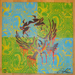 2009 CCMASK - Stencil Artwork on Canvas by Ian Millard
