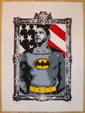2011 Dark Knight Obama - Silkscreen Art Print by Rene Gagnon