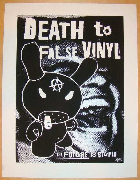 2005 False Vinyl Anarchy - Silkscreen Art Print by Frank Kozik