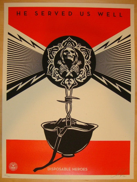 2012 Disposable Heroes - Exhibit A Art Print by Shepard Fairey