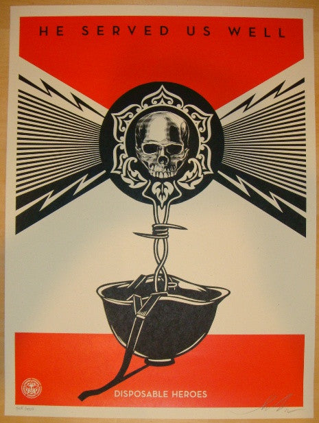 2012 Disposable Heroes - Obey Art Print by Shepard Fairey