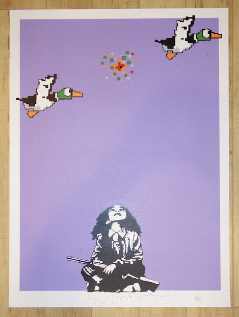 2015 Duck Hunt - Lilac Art Print by European Bob