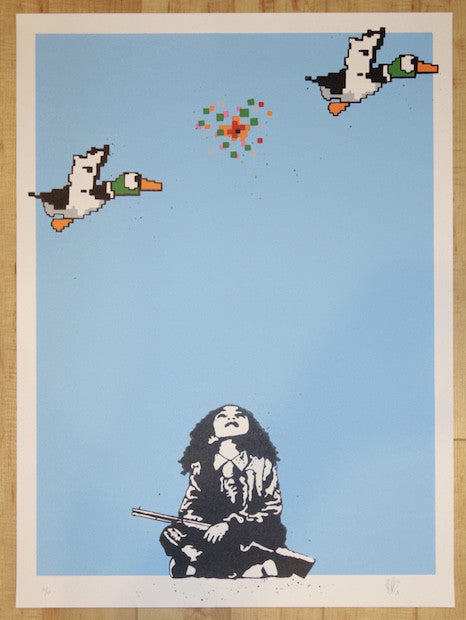 2015 Duck Hunt - Sky Blue Art Print by European Bob